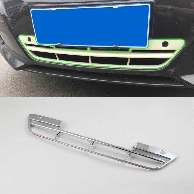 Car Accessories Exterior 1pcs ABS Chrome Front Down Grille Decorative Frame Cover Trim For Nissan Altima 2016 Car Styling in Interior Mouldings from Automobiles Motorcycles