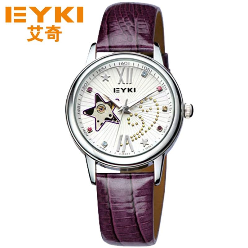 Здесь продается  EYKI Women Fashion Leather Strap Mechanical Watches Top Brand Women Dress Bracelet Watch Casual Leather Strap Wristwatches Clock  Часы