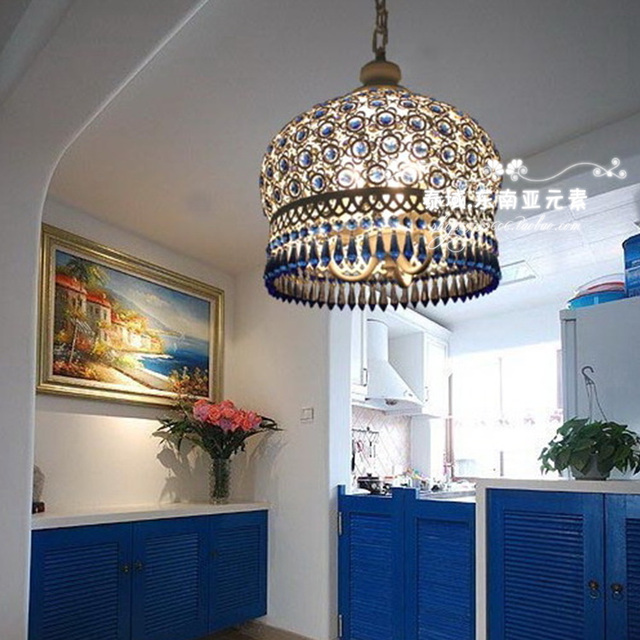 mediterranean style lighting. Bedroom Lamp Romantic Bohemian Crystal Master Mediterranean-style Light Blue Lamps Mediterranean Style Lighting T