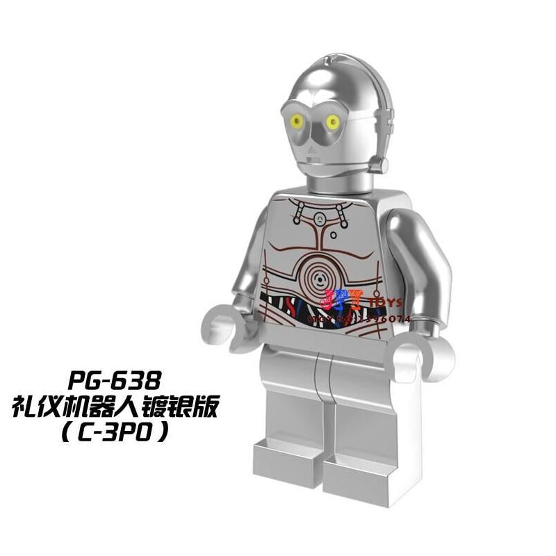 Single Sale star wars superhero marvel avengers Chrom Mr Gold building blocks model bricks toys for children brinquedos menino