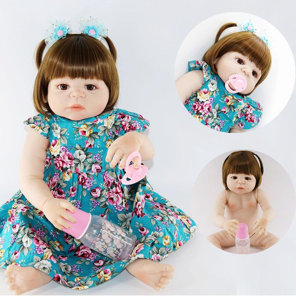 Bebes reborn real girl NPK full body silicone reborn baby doll toys modeling gift bathe doll boneca reborn silicone completa