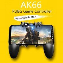 Pubg botão de volume de negócios controlador gamepad móvel para pubg ios android seis 6 dedo operação gamepad periféricos pubg controlador