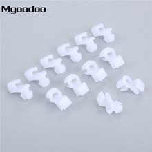 Mgoodoo 100Pcs Auto Universal Plastic Door Round head Lock Rod Clip Side Fasteners Retainers Car Wire Clips M03 Stylings