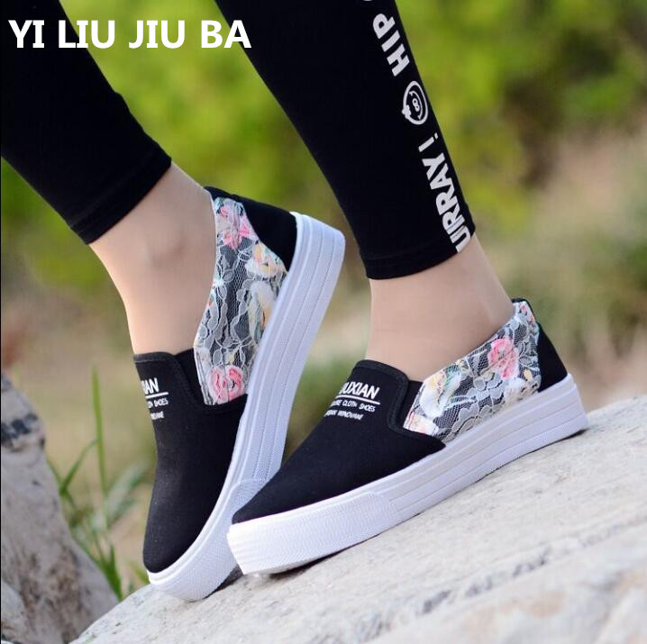 Fashion 2019 spring Women Shoes New Band canvas Women Flats Zapatos Mujer walking Comfortable Shoes women Plus Size 35-40 **213Fashion 2019 spring Women Shoes New Band canvas Women Flats Zapatos Mujer walking Comfortable Shoes women Plus Size 35-40 **213