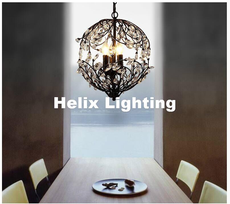 Nordic D33cm Black Golden K9 transparent Kitchen Pendant Light Coffee Shop Bar Light <font><b>led</b></font> <font><b>Lustres</b></font> Crystal Pendant Lamp Lighting