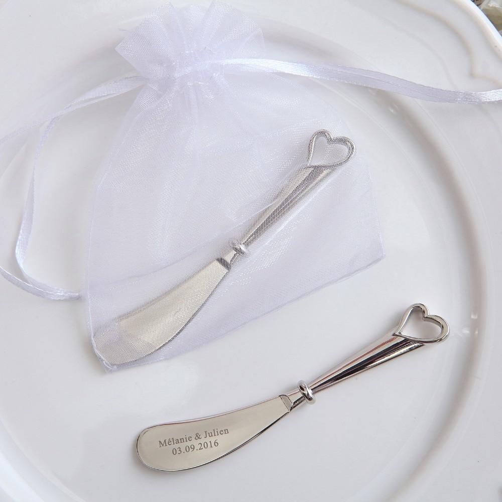 50pcs Izdolbite srce, poročno darilo nož razpršilnik masla - Prazniki in zabave - Fotografija 3