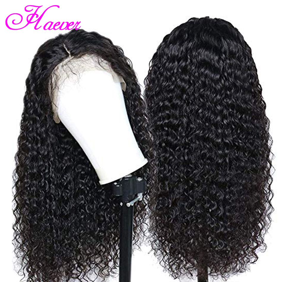 Curly Human Hair Wig Lace Frontal Human Hair Wigs For Black Women PrePlucked 150 Density Brazilian Wig(China)