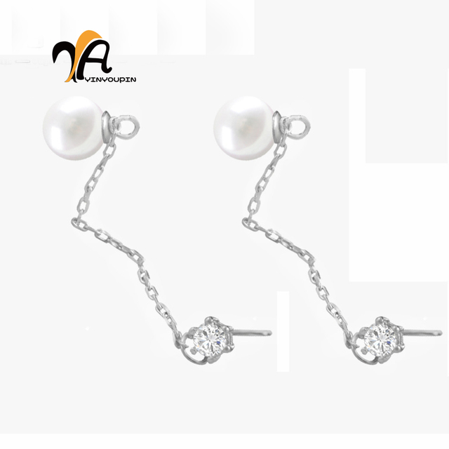 YayinYoupin Genuine Pearl Long Earrings Elegant Wedding Jewelry for