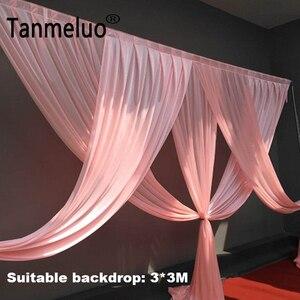 Image 1 - Di lusso rosa tenda sullo sfondo di nozze festoni per 3*3M sfondo partito di evento tenda festoni solo Colore Su Misura