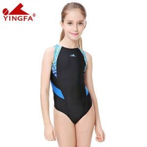 3100aa65f9f Yingfa swim suit plus size Competitive swimming kids swimwear women girls  racing
