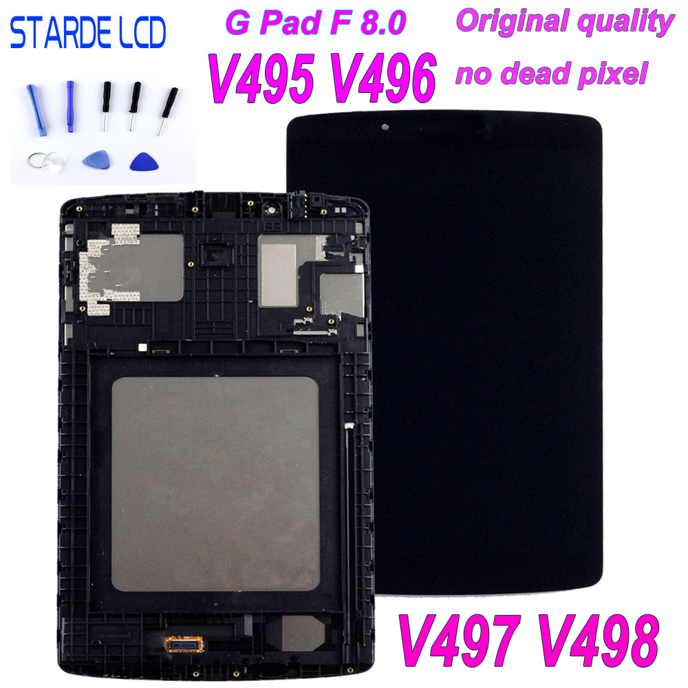 LCD For LG G Pad F 8.0 V495 V496 V497 V498 LCD Display Touch Screen Digitizer Assembly With Frame LD080WX2(SM)(C1) With Tools