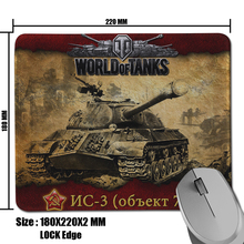 High Quality DIY World of Tanks NC-3 Pattern Comfort Anti-Slip Rectangle Pad for Optical Gamer Mouse Mat