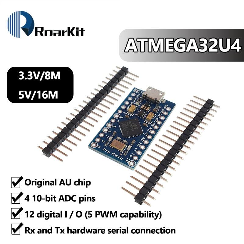 ATmega32U4 3.3V 8Mhz Pro Micro 5V 16MHz Board Module For Arduino/Leonardo ATMega 32U4 Controller Pro-Micro Replace Pro