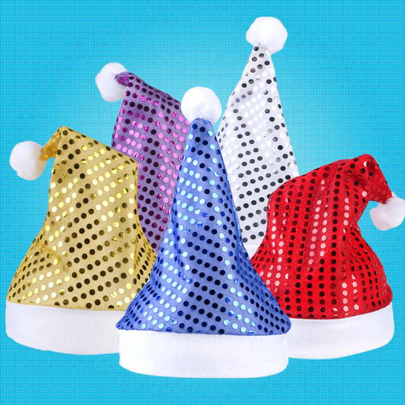 1 шт. хит продаж! Рождественская шапка с Санта-Клаусом Дед Мороз хлопковая шапка Рождественский подарок Рождественская шапка Рождественское украшение