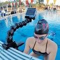 Orbmart 5 pescoço ajustável conjunta para flex braçadeira de montagem para gopro hero 4 3 + 3 2 1 xiaomi yi sjcam soocoo câmeras de ação esporte