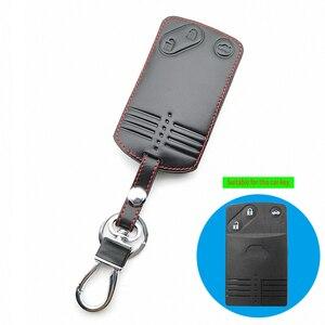 Image 3 - 2/3/4 Buttons Remote Card Key Leather Cover For Mazda 2 3 5 Premacy Miata 6 8 RX8 MX5 M8 CX 7 CX 9 Verisa MPV Protector Fob