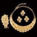 Encantos Diseño Grande Colgante Collar Anillo Pendiente de la Pulsera de La Manera Dubai Chapado En Oro Perlas Africanas Nigerianas Joyería de la Boda