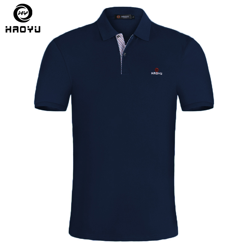 15 Color Mens Polo Shirt Brands Slim Fit Casual Solid Polo Shirts Brand Clothing Short Sleeve Fashion Haoyu Poloshirt Summer XXL