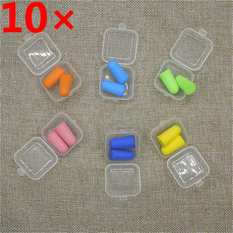 10Pairs Soft Foam Ear Plugs Tapered Sleep Noise Prevention Earplugs Noise Reduction Travel Sleeping Swimming Protective earmuffs