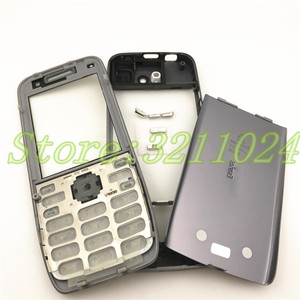 Image 2 - Good quality Original For Nokia E52 Housing Front Frame Battery Back Cover With English And Russian Keypad+Logo
