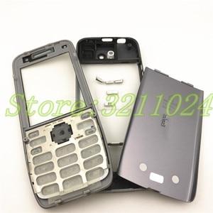 Image 2 - איכות טובה מקורי עבור Nokia E52 דיור קדמי מסגרת סוללה כיסוי אחורי עם אנגלית ורוסית לוח מקשים + לוגו