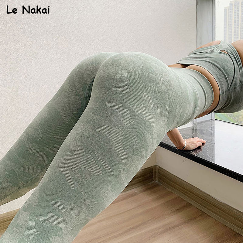 camo seamless leggings high waist seamless yoga pants workout gym leggings sport women fitness push up sports legging