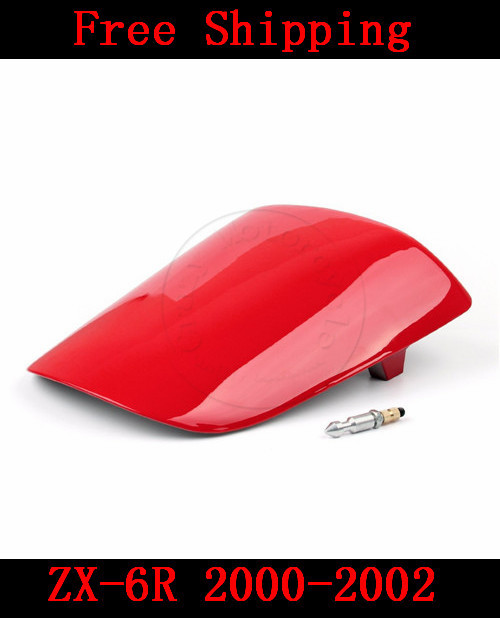For Kawasaki ZX6R ZX 6R 2000-2002 motorbike seat cover Brand New Motorcycle Red fairing rear sear cowl cover Free Shipping H37 for suzuki gsxr 600 gsx r 750 2004 2005 k4 motorbike seat cover brand new motorcycle carbon fairing rear sear cowl cover