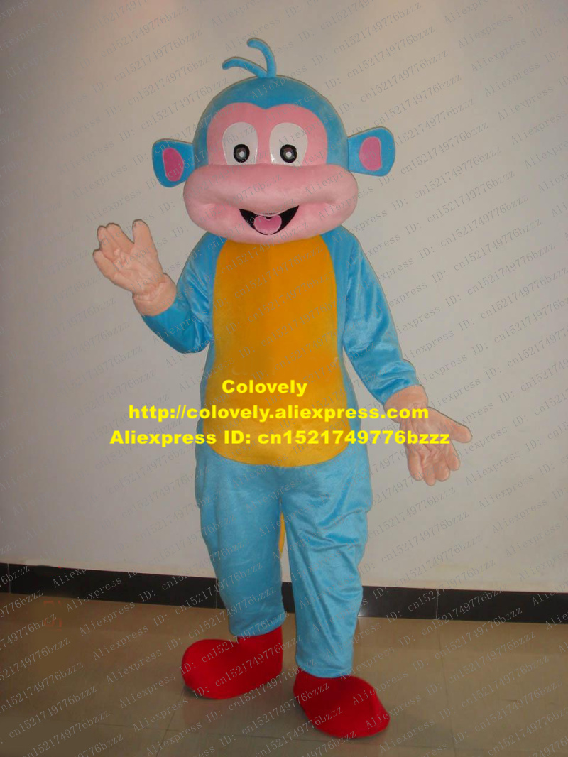 Costumes & Accessories Novelty & Special Use 2019 Fashion Lively Blue Sock Monkey Mascot Costume Mascotte Little Monkey With Big Red Mouth White Sock Hands Adult No.1887 Free Shipping