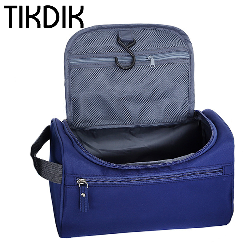 Waterproof Cosmetic Bag Women men Large Capacity Hanging Makeup Bag Nylon Travel Organizer Make Up Case Bath Wash Toiletry Bag