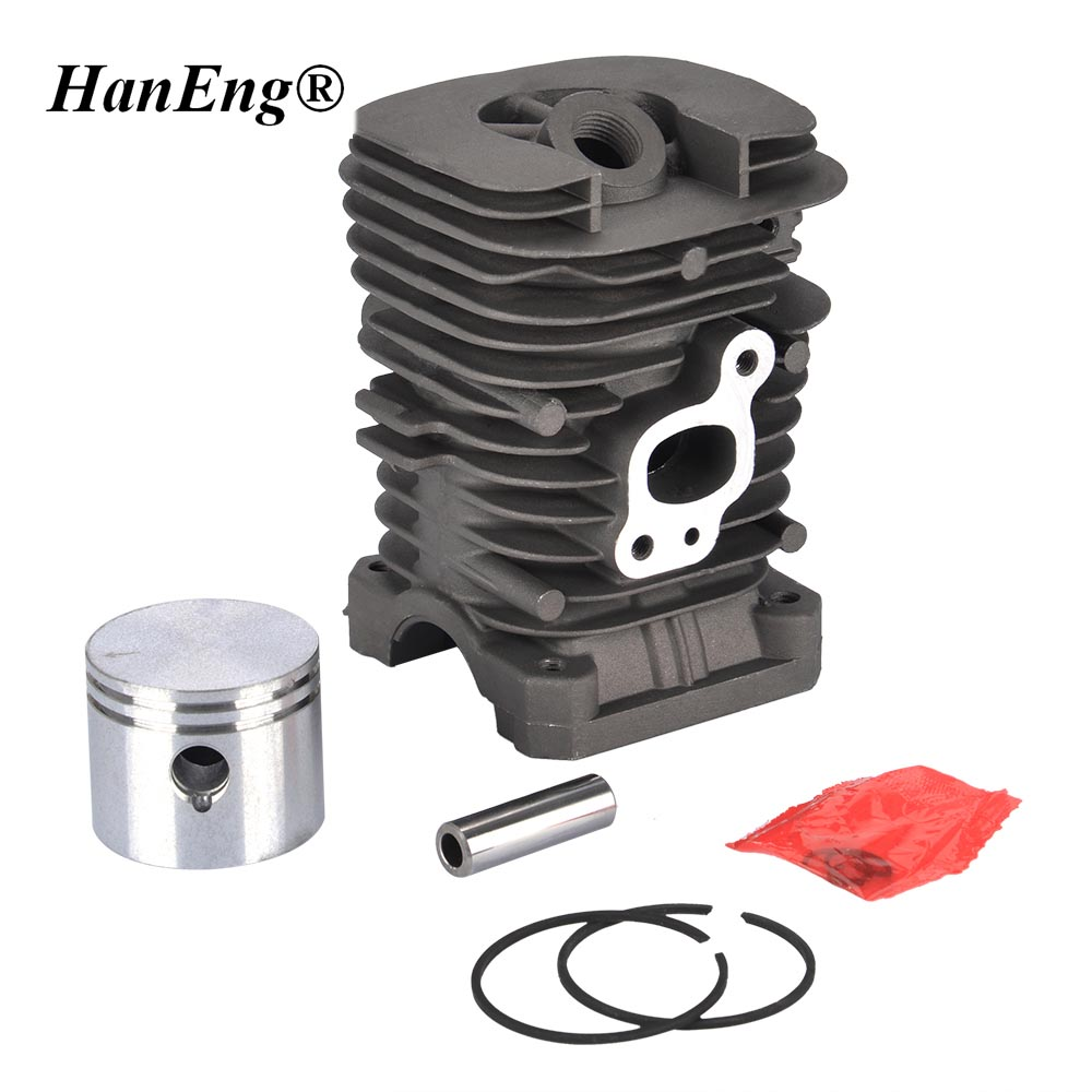 41.1MM CYLINDER PISTON KIT FOR PARTNER 350 351 352 POULAN 220 260 1950 2150 2450 2550 JONSERED 40CC 42CC CHAINSAW PISTON ASSY 41 1mm 350 cylinder