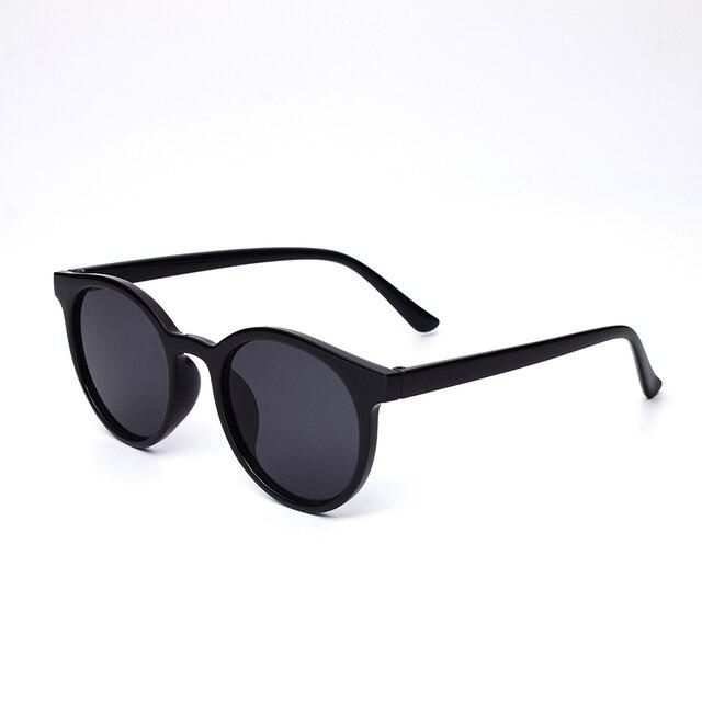 Gafas de sol redondas de nuevo diseñador de moda sunglasesPC material 2018 de las mujeres oval sunglasse unisex