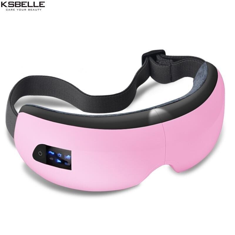 Sans fil Eye Massager Air Compression Massage Des Yeux avec Musique Intelligent Eye Massage Chauffée Lunettes Anti Rides Soins Oculaires - 4
