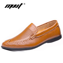 MVVT Brand Slip-On Men s Loafers Genuine Leather Casual Shoes Men Plus Size  Men Flats 0b3567872f84