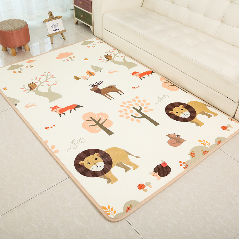 Infant Shining 2CM XPE Baby Play Mat 180X200CM Folding Mat Cartoon Puzzle Crawling Pad Anti-skid Waterproof Game Blanket Rug shining shining vii fodd forlorare 2 lp