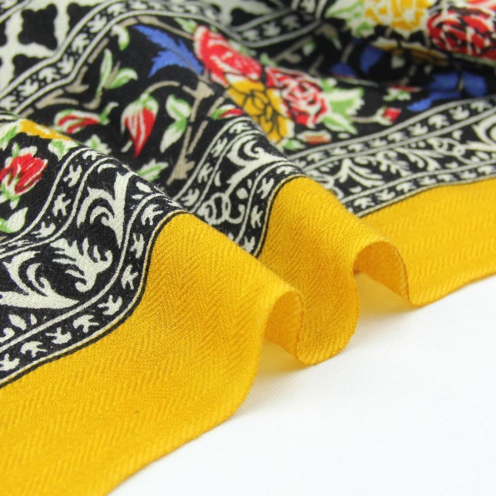 DANA XU 2019 Neue Luxusmarke Übergröße 100% Wolle Gelb pashmina - Bekleidungszubehör - Foto 5