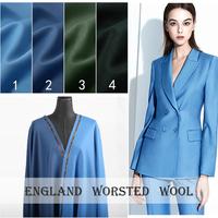 High end custom High Counts Worsted Merino Wool Fabric For Women Coat,Width 150CM Blending Fashion cloth For DIY Sewing HOT SALE