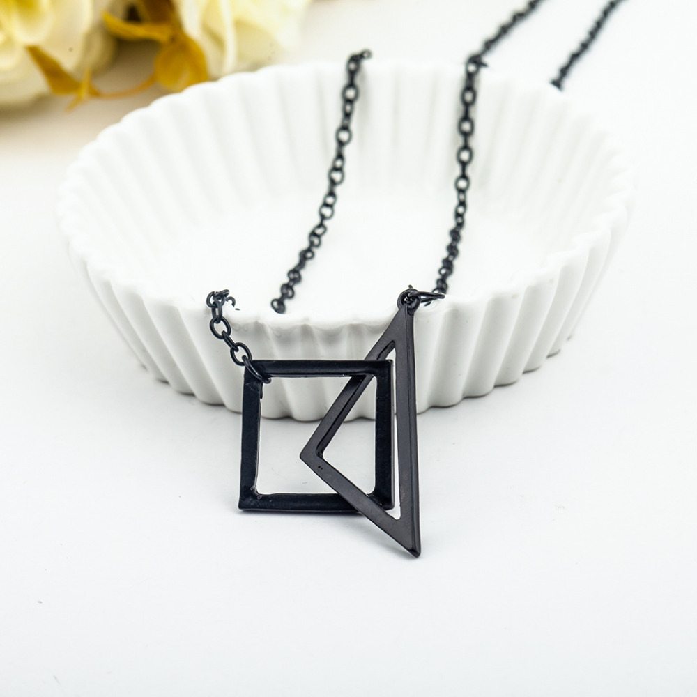 necklace pendant shaped chain product square link cross steel