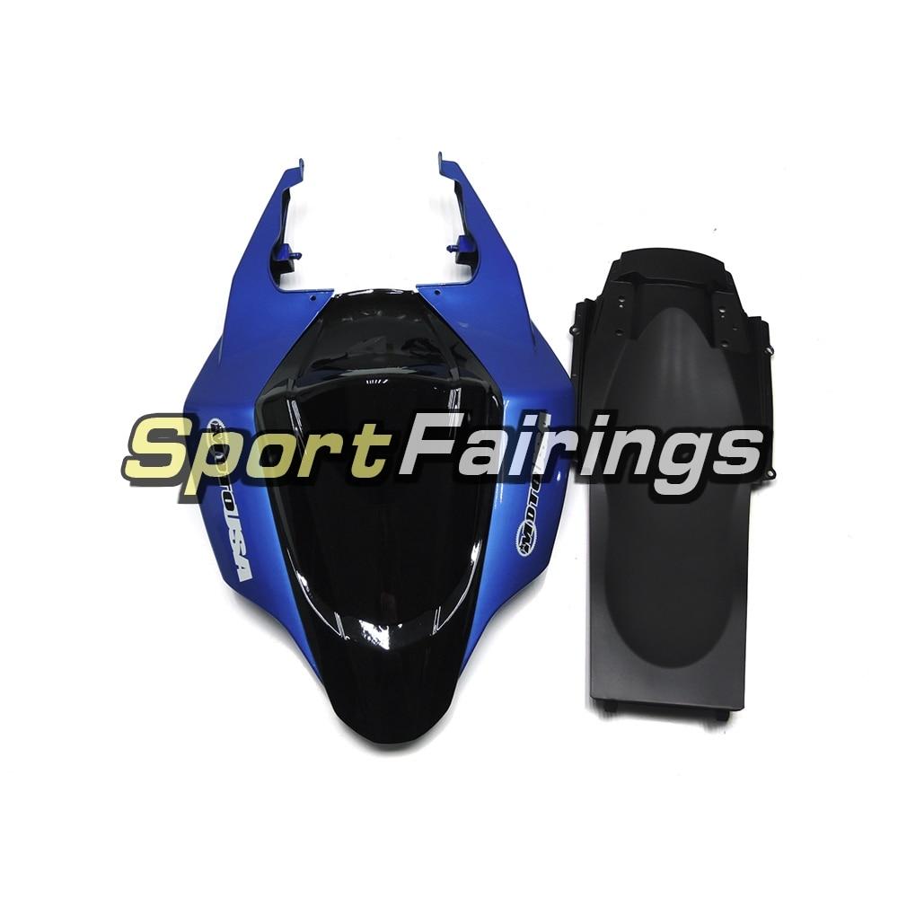 Обтекатели подходит для Suzuki GSXR1000 GSX-R 1000 K7 07 08 2007 2008 впрыскивание, АБС-пластик мотоцикл обтекатель комплект белого и синего цвета черного цвета, Новинка