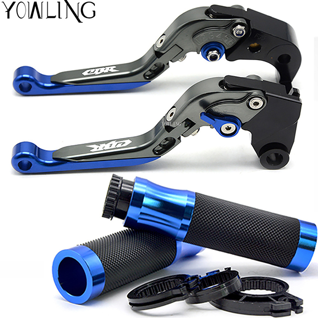 For honda CBR125R 2011-2014 CBR300R/CB300F/FA 2014-2016 7/822mm Motorcycle CNC Hand Grips Handle Bar Grip + Brake Clutch Lever