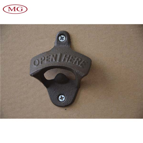 Metal Wall Mounted Bottle Opener Iron Beer Coke Soda Cap