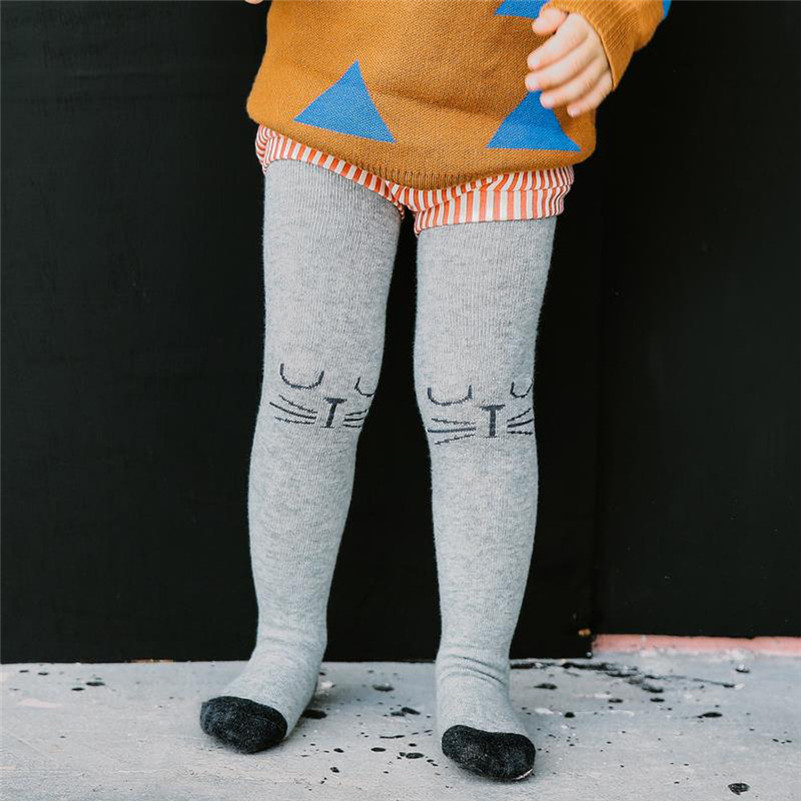 Mooistar2 #3505 Hot Sale Baby Girl Kids Cat Print Hosiery Pantyhose Pants Stockings