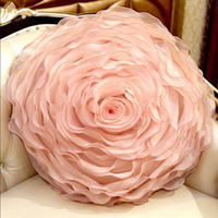 Luxury Yarn 3D Rose Cushions Romantic Valentine S Day Lover Gifts Flower Sofa Pillow Cusion Bed