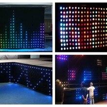 P20 светодиодный видеозанавес 1x2 м, 2x3 м, 2x4 м, 3x4 м, 3x6 м, 4x6 м SMD сценическая звезда ткань огнеупорный велюр+ контроллер видения занавес