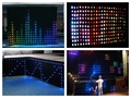 P20 LED Video Curtain 1x2M,2x3M,2x4M,3x4M,3x6M SMD High-bright stage Cloth Fireproof Velour + Controller LED Vision Curtain Star