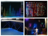 P20 LED Video Curtain 1x2M,2x3M,2x4M,3x4M,3x6M,4x6M SMD stage star Cloth Fireproof Velour + Controller Vision Curtain