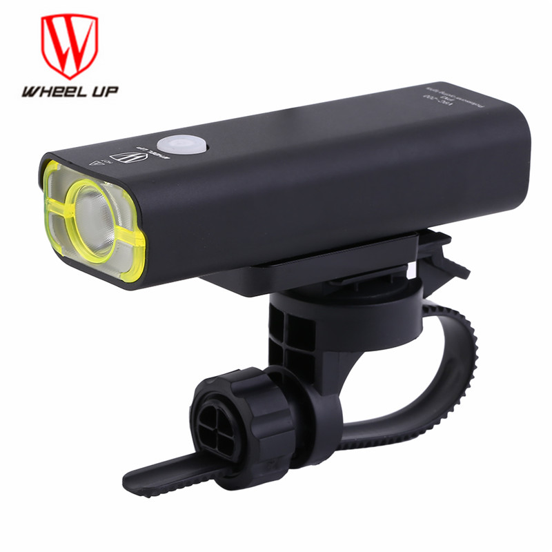 WHEEL UP usb rechargeable bike <font><b>light</b></font> front handlebar cycling led <font><b>lights</b></font> battery flashlight torch headlight bicycle accessories