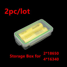 2pc a lot !! lithium ion 18650 battery case plastic storage case with waterproof battery box
