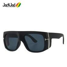 Jackjad 2020 moda moderna escudo estilo vintage óculos de sol das mulheres dos homens t metal gradiente óculos de sol uv400 oculos de sol ft0733