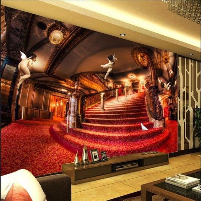 Beibehang Custom 3d Wallpaper European Royal Aristocrat 3d Angel Wallpaper  Sofa Living Room Bedroom Wall TV