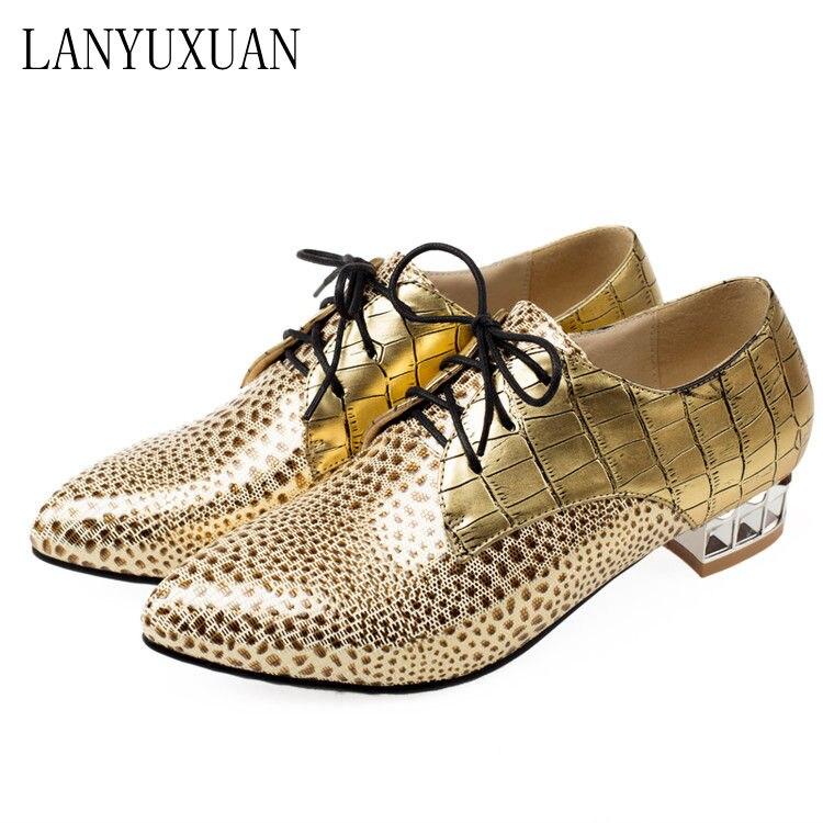 2017 neue Ankunft Echt Oxford Schuhe Für Frauen Große Größe 33-44 mode Pu Frauen Schuhe Up Spitzschuh Low-heel Büro Dame 8151-2